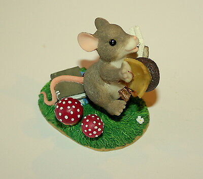 Charming Tails Mice Mouse Congradulations 89/106 Figure New Display Fitz Floyd