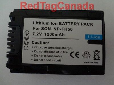 Battery for Sony NP-FH30 NP-FH40 NP-FH50 NP-FH60  1200mAh - Canada