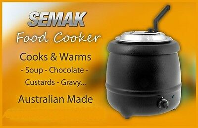 Brand New  Semak Soup Kettle/Warmer Commercial Grade Electric Black 9 Litre