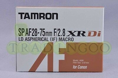 Brand New Tamron SP AF 28-75mm f/2.8 XR Di LD ASP IF A09E for Canon MADEIN JAPAN