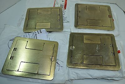 Wiremold Walker S38 FloorPort Brass Cover Assembly Lot of 4