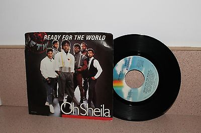 "Ready for the World Oh Sheila/I'm the one who loves 7"" vinyl picture sleeve MCA"