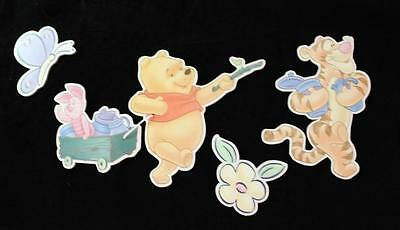 5 Vintage WINNIE THE POOH WALL PLAQUES TIGGER PIGLET 3D  Disney Pictures Decor