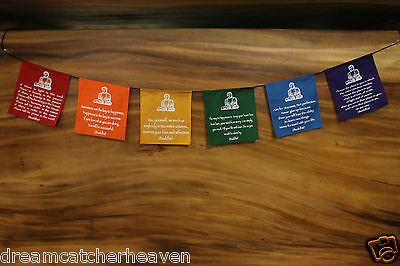 Mini Buddha Flag 150 Cm Affirmation Banner 2 Styles To Choose From Looks Ab Fab