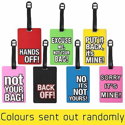 Suitcase Luggage Tags Straps Label ID Holiday Travel Quote Tag