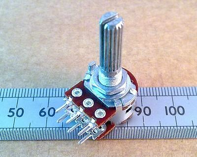 Dual Gang Centre Click Potentiometer, 16mm Stereo Pot With Center Detent, Linear