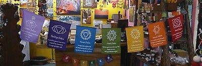 Large Bright Chakra Prayer Flag 290 Cm Approx/  Metaphysical New Age Meditation