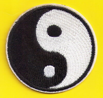 Yin Yang tao mystical applique Embroidered Iron On Patch or Sew on Applique