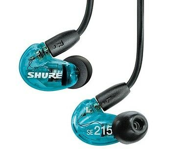 Shure SE215 Sound Isolating In-Ear DJ Monitoring Earbuds/Earphones Blue
