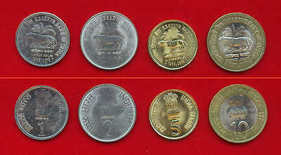 India 2010 Platinum Jubilee Set Of 4 Coin Rbi Reserve Bank Of India Tiger Unc