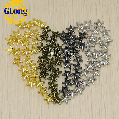 9mm Star Studs Punk DIY Leathercraft Accessories Rivet Spikes