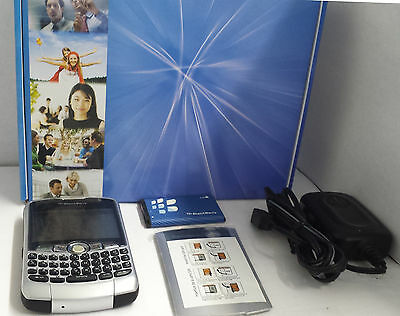 Verizon Blackberry 8330 Curve 3G Data Silver QWERTY Cell Smartphone Phone Mint