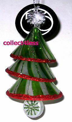 DEPT 56 Green Layered Glass Candy Bell Christmas Tree SNOWMINTS Ornament NWT