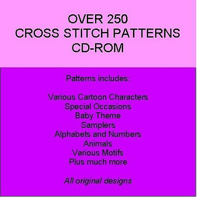Cross Stitch Patterns Cd-Rom - Over 250 Designs!