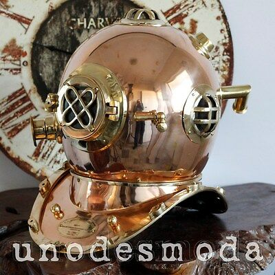 DIVING HELMET FULL SIZE BRASS COPPER DEEP SEA - Father Dad Husband Present Gift