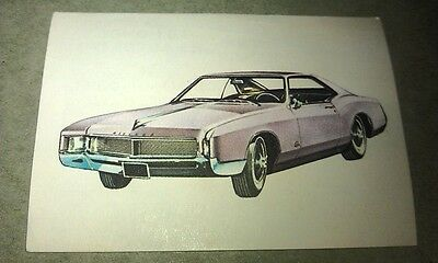 1966 BUICK RIVIERA  Jacques Chocolates BELGIUM Trade Swap Card - RARE !