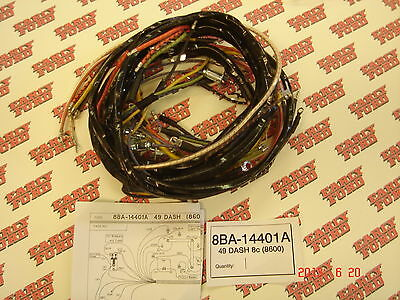 ford 1949 car dash wiring harness new 250 00 picclick rh picclick com