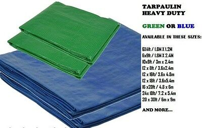 Extra Value Waterproof Tarpaulin Ground Sheet Lightweight Camping Cover Tarp