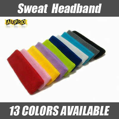 Cotton Headband Sweatbands Sweat Band Head Band for Tennis Badminton Sport Yoga