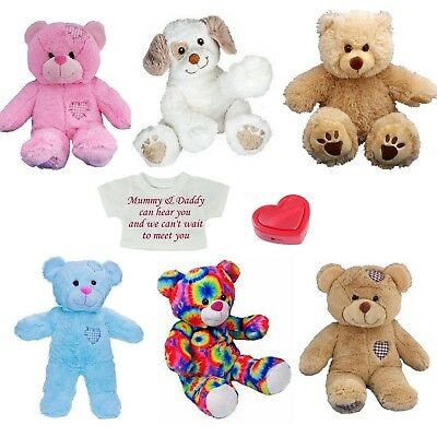 Personalised Teddy Baby Heartbeat 40cm Bear -  Record Baby's Heartbeat at Scan