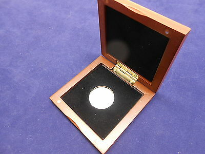 Cherry Finished Display Case & Airtite Coin Capsule for Presidential Dollar 26mm
