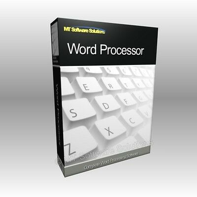 word processor pro software compatible with ms word 2003 2007 2010 eur 9 99 picclick de. Black Bedroom Furniture Sets. Home Design Ideas
