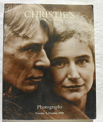 CHRISTIE'S NEW YORK PHOTOGRAPHS AUCTION CATALOG from 6 OCTOBER 1998