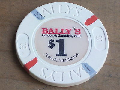$1 GAMING CHIP FROM BALLY'S CASINO TUNICA  MS.