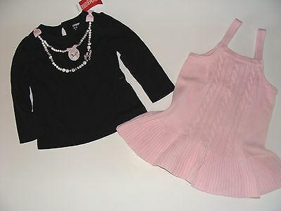 GYMBOREE TRES FABULOUS PINK CABLE SWEATER JUMPER 6 12 18 24 2 3 4 5 NWT