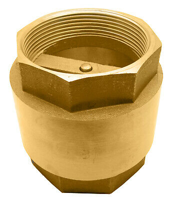 "3"" Brass In-Line Spring Check Valve - 200WOG"