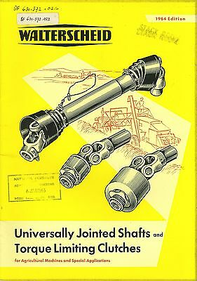 1964 Walterscheid Universally Jointed Shafts & Torque Limiting Clutches Guide