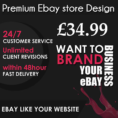 Ebay Store Design & Auction Listing Template Professional Dynamic Shop Package