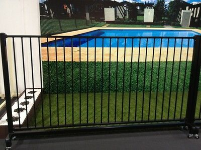 Pool Fencing, flat top steel