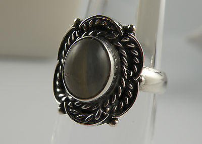 Sterling Silver ring with  GRAY AGATE stone size 6.75