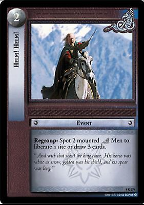 LORD OF THE RINGS TCG - 4R 279 Helm! Helm! Decipher Tcg