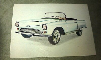 1962 AUTO UNION 1000SP   Jacques Chocolates BELGIUM Trade Swap Card - RARE !