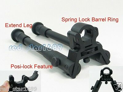 "8"" to 10"" barrel clamp-on adjustable hunting for rifle bipod foldable extend leg"