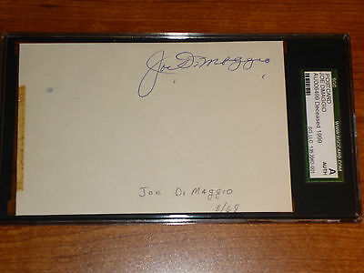 August 23 1968 Postcard Autograph Joe Dimaggio Yankees SGC Authentic