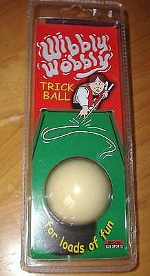 "WIBBLY WOBBLY TRICK CRAZY CUE BALL FOR POOL TABLE 1"" 7/8 -not snooker"