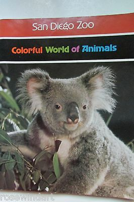 """Vintage 1976 San Diego Zoo Animals Full Color 70p., 11.25"""" x 9"""" Great Condition!"""