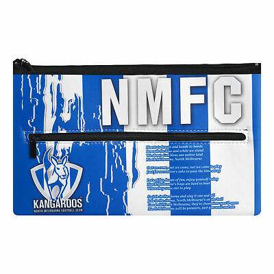North Melbourne Kangaroos AFL Large Pencil Case with Team Song!