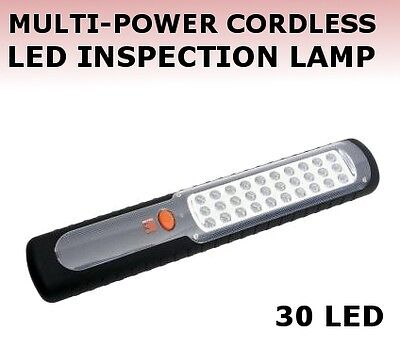 30 Led Rechargeable Cordless Hand Inspection Work Outdoor Camping Lamp / Light