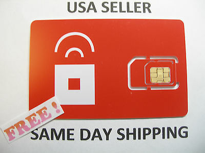 New US Prepaid Red Pocket Mobile Sim Card AT&T Go phone GSM network redpocket