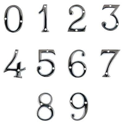 "2"" Chrome House Number Front Door Buildings Numeral Numbers Back Door Porch New"