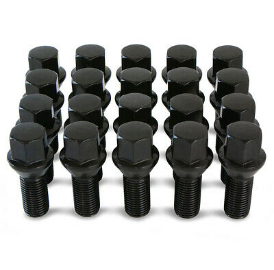 Set 20 17mm Black Car Caps Bolts Covers Wheel Nuts For Alfa Romeo 145 159