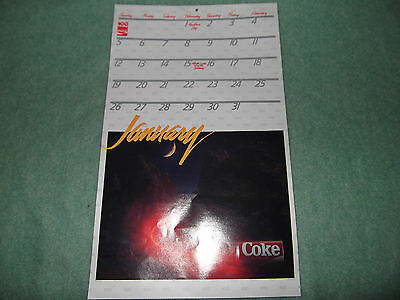 Coca Cola Coke Calendar 1986 100th Anniversary 12 Month Wall Vintage Original
