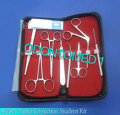 40 Pc Minor Dissection Student Surgical Instruments Kit
