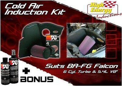 Ford Falcon Ba Bf Fg 6Cyl, Turbo & 5.4L V8 Fpv Gt Cold Air Intake Induction Kit