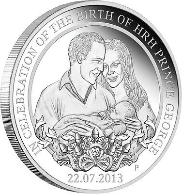 Royal Baby HRH Prince George 2013 1oz Silver Proof Coin Perth Mint. In stock now