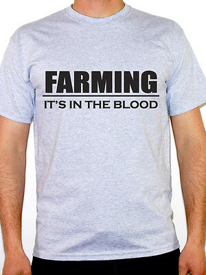 FARMING IT'S IN THE BLOOD - Agriculture / Farmer / Harvest Themed Mens T-Shirt